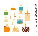 Vector Candles In Flat Style