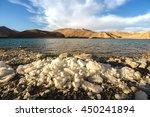 pangong lake or pangong tso ... | Shutterstock . vector #450241894
