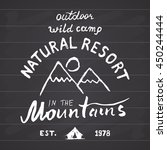 mountains hand drawn sketch...   Shutterstock . vector #450244444