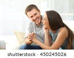happy couple or marriage... | Shutterstock . vector #450245026