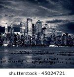 new york city manhattan taken... | Shutterstock . vector #45024721
