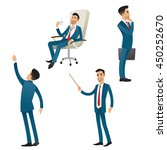 set of businessman in different ... | Shutterstock .eps vector #450252670