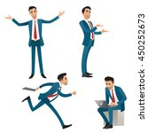 set of businessman in different ... | Shutterstock .eps vector #450252673