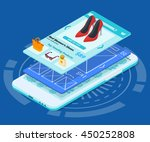 mobile app development 3d flat...