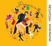 couple dancing kizomba in... | Shutterstock .eps vector #450265186