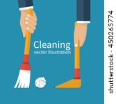 cleaning service. man holding