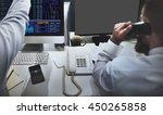 mock up copy space blank screen ... | Shutterstock . vector #450265858