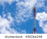 signal distribution transmitters | Shutterstock . vector #450266248