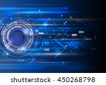 vector abstract technology... | Shutterstock .eps vector #450268798
