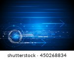 vector abstract technology... | Shutterstock .eps vector #450268834