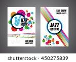 colorful music festival poster  ... | Shutterstock .eps vector #450275839