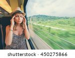 headache and motion sickness.... | Shutterstock . vector #450275866