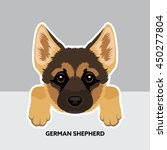 vector illustration portrait of ... | Shutterstock .eps vector #450277804