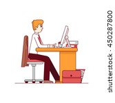 business man working on a... | Shutterstock .eps vector #450287800