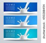 flavored creamy milk banner...   Shutterstock .eps vector #450288454