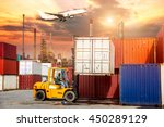 business logistic concept ... | Shutterstock . vector #450289129