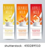 flavored creamy milk banner... | Shutterstock .eps vector #450289510