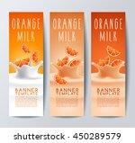 flavored creamy milk banner... | Shutterstock .eps vector #450289579