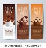 flavored creamy milk banner... | Shutterstock .eps vector #450289594