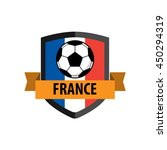 shield badge with france nation ... | Shutterstock .eps vector #450294319