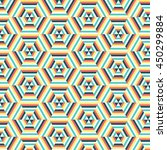 geometric hexagon pattern... | Shutterstock .eps vector #450299884