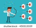 businessman success in target | Shutterstock .eps vector #450313339
