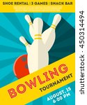 colorful  poster of bowling ... | Shutterstock .eps vector #450314494