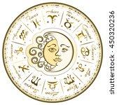 zodiac signs  horoscope  vector ... | Shutterstock .eps vector #450320236