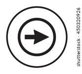arrow   icon. flat design. | Shutterstock .eps vector #450320926