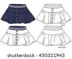 skirt designs | Shutterstock .eps vector #450321943