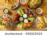 buffalo chicken hot wings with... | Shutterstock . vector #450325423