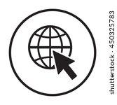website    icon. flat design. | Shutterstock .eps vector #450325783