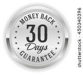 silver 30 days money back... | Shutterstock .eps vector #450340396