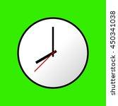 clock icon  vector illustration ... | Shutterstock .eps vector #450341038