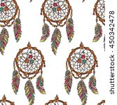 dreamcatcher. boho pattern.... | Shutterstock .eps vector #450342478