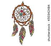 dreamcatcher. boho pattern.... | Shutterstock .eps vector #450342484