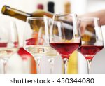 glasses with different kind of... | Shutterstock . vector #450344080