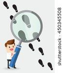 businessman using huge... | Shutterstock .eps vector #450345508