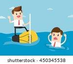 businessman have creative ideas ... | Shutterstock .eps vector #450345538
