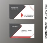 business card in white and gray ... | Shutterstock .eps vector #450349453