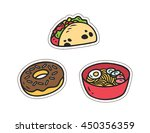Set Of Various Food Patch...