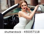 gorgeous bride with fashion... | Shutterstock . vector #450357118