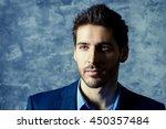 portrait of a handsome man... | Shutterstock . vector #450357484