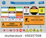 set of construction sign ... | Shutterstock .eps vector #450357508