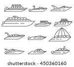 water transport set. yacht ... | Shutterstock .eps vector #450360160