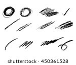 pencil mark isolated on white | Shutterstock .eps vector #450361528