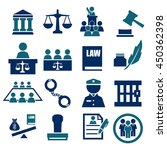 attorney  court  law icon set | Shutterstock .eps vector #450362398