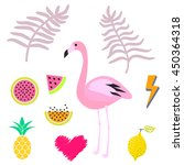 Summer Pink Flamingo Clipart...
