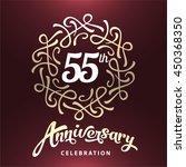 55 years anniversary template... | Shutterstock .eps vector #450368350