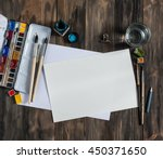 mock up. creative space.... | Shutterstock . vector #450371650